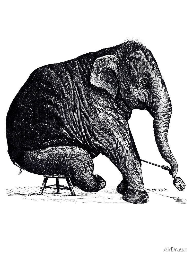 Elephant Solo Performance by AirDrawn