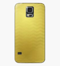 Gold Metallic Metal Chevron Wavy Stripe ZigZag Pattern Case/Skin for Samsung Galaxy