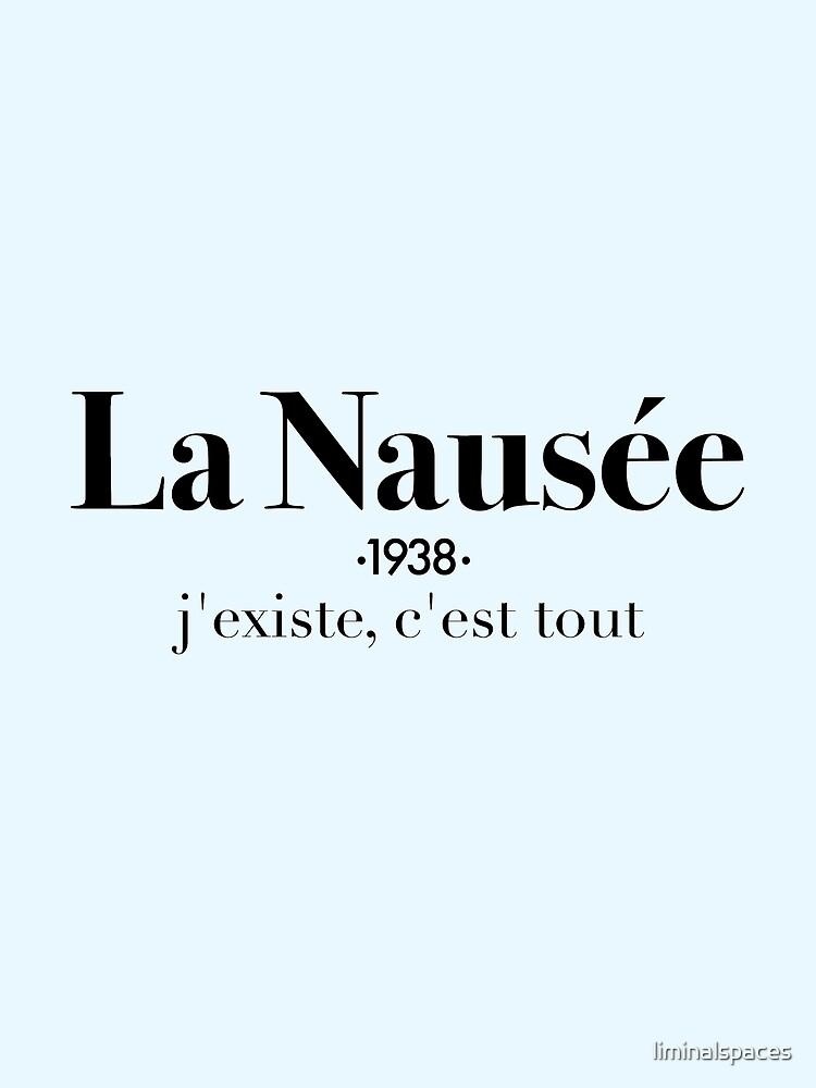 La Nausée by liminalspaces