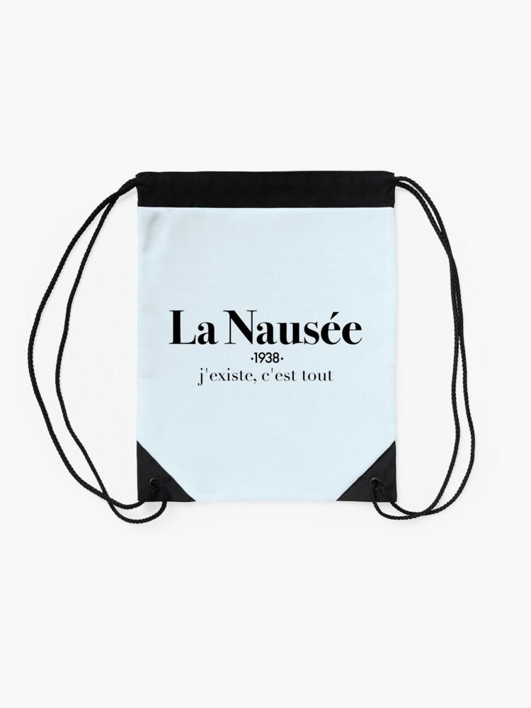 Alternate view of La Nausée Drawstring Bag