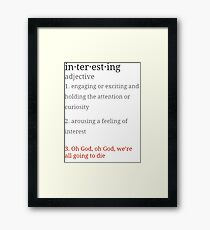Firefly Interesting Definition Framed Print