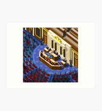 Election Infographic Parliament Hall Art Print