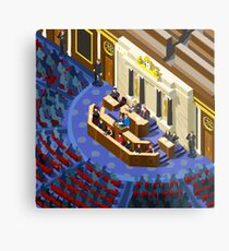 Election Infographic Parliament Hall Metal Print