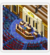 Election Infographic Parliament Hall Sticker