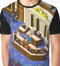 Election Infographic Parliament Hall Graphic T-Shirt