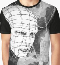 Original Pinhead Hellraiser Horror Design Graphic T-Shirt