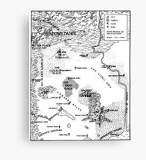 RQ2 PRAX Map (pairs with RQ2 DRAGON PASS Map) Canvas Print