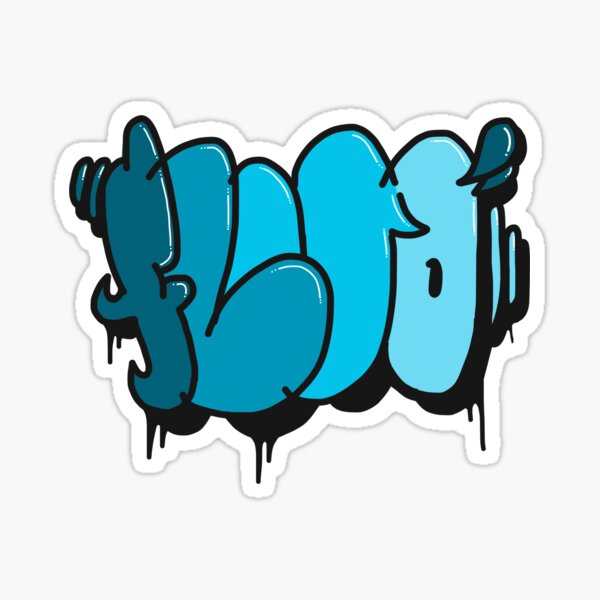Fluo Trow Up Sticker