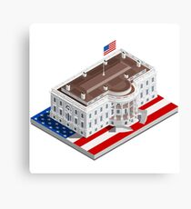 Election Infographic USA White House Canvas Print