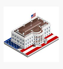 Election Infographic USA White House Photographic Print