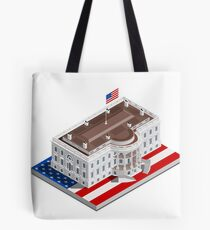 Election Infographic USA White House Tote Bag