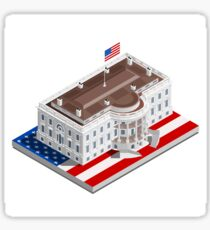 Election Infographic USA White House Sticker