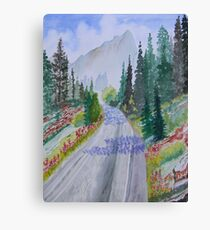 Biking The Mountains Canvas Print