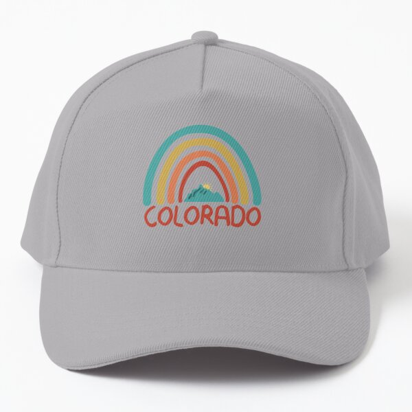 Colorado Retro Vintage Rainbow - Colorado Mountain Souvenir - Gift - Hometown - Hiking - Nature Baseball Cap