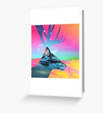 Matterhorn vs Rentier Grußkarte
