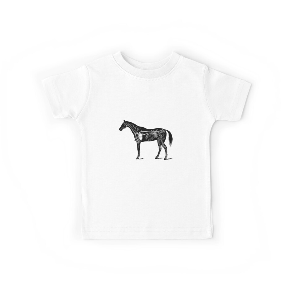 Horse Anatomy Kids Tees By Mappendant Redbubble