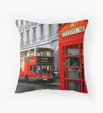 london with a touch of colour Throw Pillow