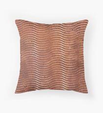 Copper Swirl Throw Pillow