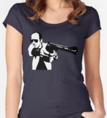 Hunter S Thompson - Gun - Large Women's Fitted Scoop T-Shirt