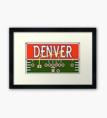 Denver Touchdown Framed Print