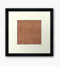 Copper Hammered Dots Framed Print