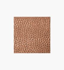 Kupfer gehämmerte Punkte Galeriedruck