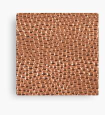 Copper Hammered Dots Canvas Print