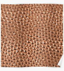Copper Hammered Dots Poster