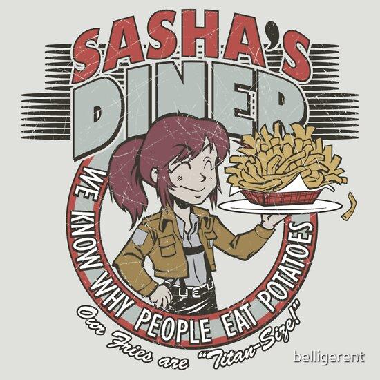 61e396061b Sasha's Diner | Unisex T-Shirt, a t-shirt of funny, retro, parody ...