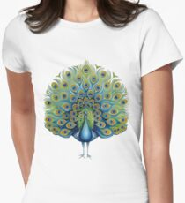 Peacock Women's Fitted T-Shirt