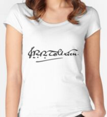 J. R. R. Tolkien Signature Women's Fitted Scoop T-Shirt