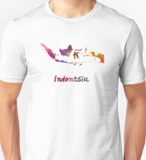Indonesia in watercolor Unisex T-Shirt