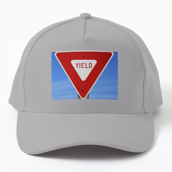 Yield Highway Sign  Baseball Cap