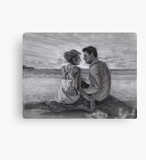 Castle and Beckett - Honeymoon Canvas Print