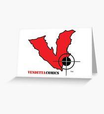 Vendetta Comics Reverse Logo Greeting Card