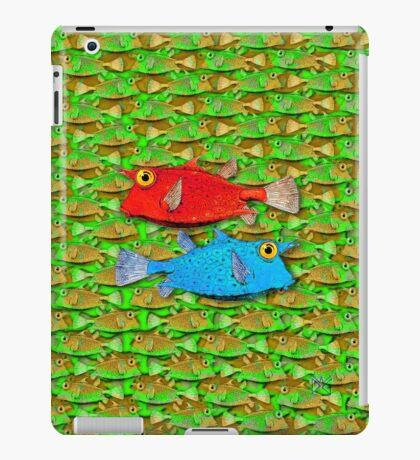 red fish - blue fish iPad Case/Skin