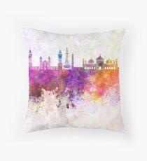 Lahore-Skyline im Aquarellhintergrund Dekokissen