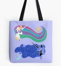 Princess Celestia and Nightmare Moon Tote Bag