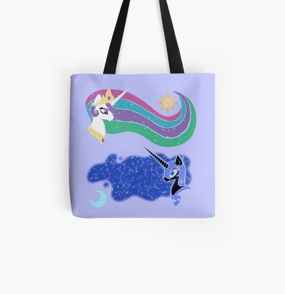Princess Celestia and Nightmare Moon All Over Print Tote Bag