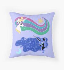 Princess Celestia and Nightmare Moon Throw Pillow