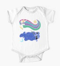 Princess Celestia and Nightmare Moon Short Sleeve Baby One-Piece
