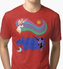 Princess Celestia and Nightmare Moon Tri-blend T-Shirt