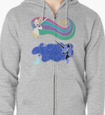 Princess Celestia and Nightmare Moon Zipped Hoodie