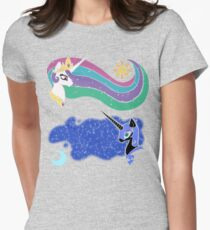 Princess Celestia and Nightmare Moon Fitted T-Shirt