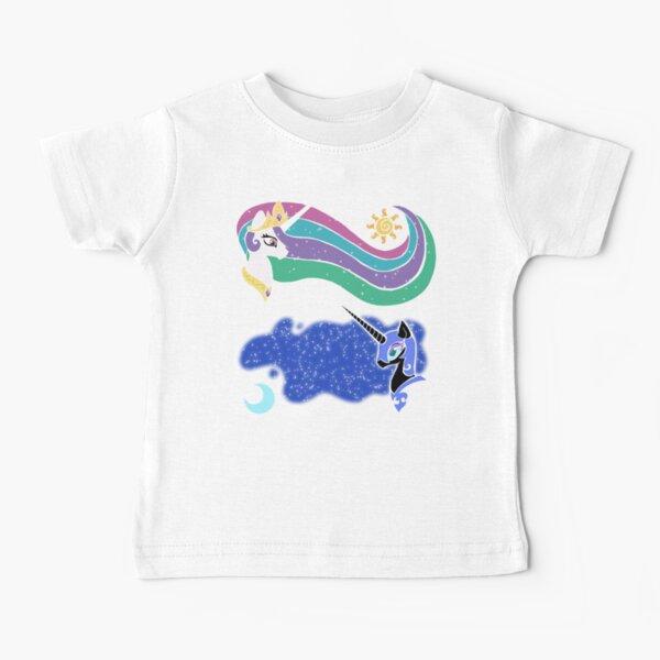 Princess Celestia and Nightmare Moon Baby T-Shirt