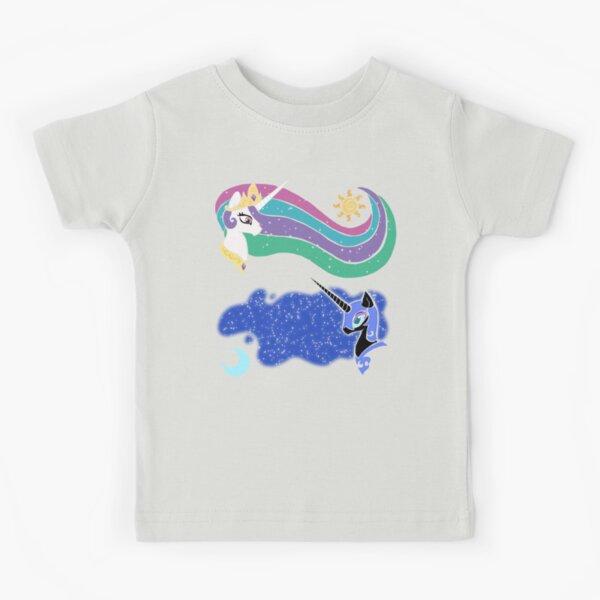 Princess Celestia and Nightmare Moon Kids T-Shirt