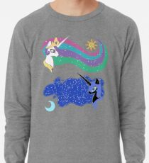 Princess Celestia and Nightmare Moon Lightweight Sweatshirt