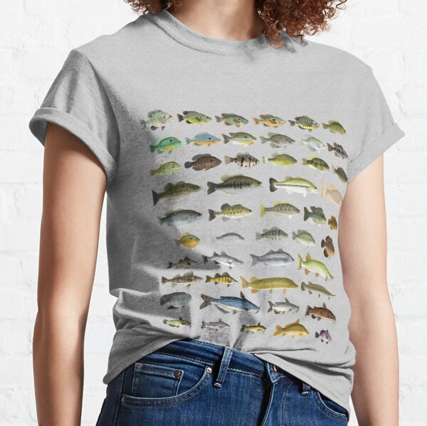 North American Freshwater Fish Group Classic T-Shirt