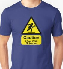 Funny - I Run with Scissors! Unisex T-Shirt
