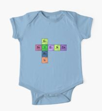 SCIENCE GIRL! - Periodic Elements Scramble One Piece - Short Sleeve
